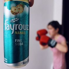 Monday blue? No wayyy! Keeping my spirit up by exercising in the morning! And all hail @fayrouzid to successfully quench my thirst! The pineapple n soda combo is refreshing!!! I feel energized! #fayrouzid #finesoda
