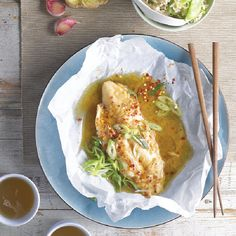 A quick and easy Snappy Asian Fish En Papillote recipe, from our authentic Asian cuisine collection. Find brilliant recipe ideas and cooking tips at Gousto Diet Dinner Recipes, Cooking Recipes, Fish Dishes, Main Dishes, Vegetable Rice, Cook At Home, Fish And Seafood, Quick Meals, Fish Recipes