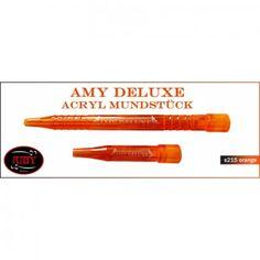 Amy Deluxe Acryl-Griffstück und Endstück 2.0 orange von Amy Shishas, S215AC-OR