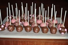 Welcome baby cake pops