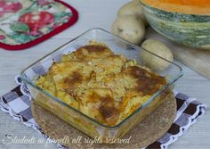 tortino di zucca patate e prosciutto e scamorza al forno ricetta facile secondo gustoso