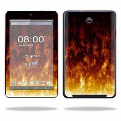 Mightyskins Protective Skin Decal Cover for Asus MeMO Pad HD 7 Tablet wrap sticker skins Firestorm
