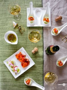 Vodka-cured ocean trout salad + hors d'oeuvres