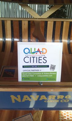 Good to partner with the Quad Cities Convention and Visitors' Bureau