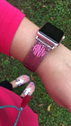 This item is unavailable Cute Apple Watch Bands, Apple Watch 3, Apple Band, Monogram Decal, Circle Monogram, Iphone Watch Bands, Apple Watch Accessories, Phone Accessories, Apple Watch Fashion