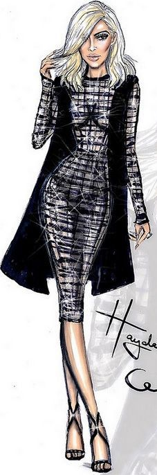 Fashion Illustration by Hayden Williams for Kim's blonde ambition