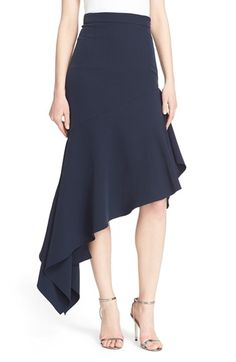 Milly Asymmetrical Stretch Woven Skirt available at #Nordstrom