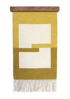 Rachel Duvall - hand woven wall piece  silk weft over a linen warp  hand dyed with natural dyes