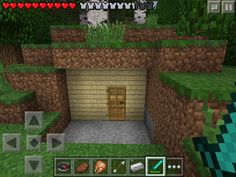 Front of minecraft cave house made out of birch, oak, and spruce wood. This seed (forgot what it is) has diamond, iron, red stone, gold, and a lot of other things. I FOUND TWO MINSHAFTS AND ONE WASENT ON PROPOSE! (My world)