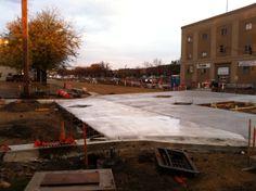 Fresh concrete near the Dow Building.  10.10.2011