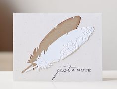 Love this feather die and the possibilities I LOVE this!