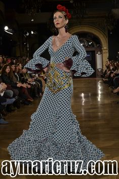 Moda Flamenca por Cayetano Rivera vía ¡Ay Maricrú! Flamenco Costume, Edwardian Dress, Hand Embroidery, Polka Dots, Formal, My Style, Casual, Inspiration, Outfits