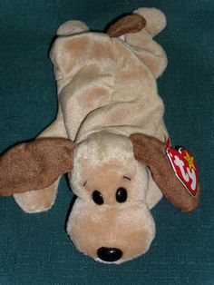 Beanie Baby Bones Puppy Dog! My daughter, Sarah's little huggy ever since sh was 8. She is 23 and still hugs him in her bed!