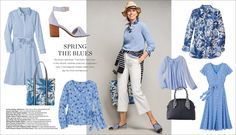 Spring The Blues Work Fashion, Spring Fashion, Weekend Fashion, 50 Fashion, Fashion Outfits, Mature Women Fashion, Spring Outfits, Blue Outfits, Stitch Fix Outfits