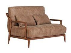 Walnut small sofa INDIGO | Loveseat - SELVA