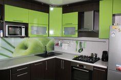 Green Kitchen Designs, Kitchen Room Design, Kitchen Cabinet Design, Home Decor Kitchen, Interior Design Kitchen, Kitchen Furniture, Funky Kitchen, Hidden Kitchen, Kitchen Cabinet Remodel