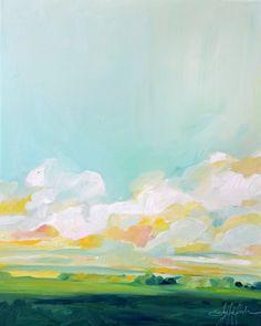 """Kunstreproduktionen Gemälde Öl Landschaft """"Von the Valley"""""""