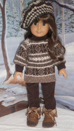 American Girl Doll Clothes  Sweater Corduroy by dollupmydoll