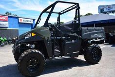 """New 2017 Polaris Ranger® 570 ATVs For Sale in Florida. Sage Green The RANGER 570 ProStar engine is purpose built, tuned and designed alongside the vehicle – resulting in an optimal balance of smooth, reliable power. The ProStar 570 engine was developed with the ultimate combination of high power density, excellent fuel efficiency and ease of maintenance.Now with 1,500 lbs. towing capacity and standard 2"""" receiver, RANGER 570 allows you to tackle the toughest jobs with confidence…"""