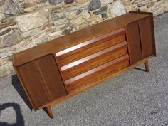 LANE Mid Century WALNUT sculptural CREDENZA SIDEBOARD CHEST Danish $749, they will deliver from PA