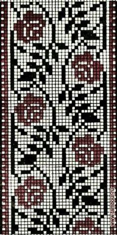 Cross Stitch Freebies, Cross Stitch Bookmarks, Cross Stitch Borders, Crochet Borders, Counted Cross Stitch Patterns, Filet Crochet, Cross Stitch Designs, Cross Stitching, Cross Stitch Embroidery