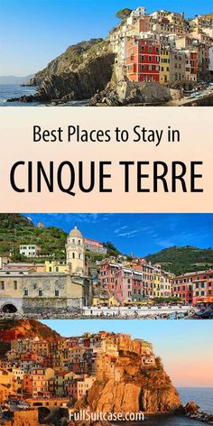 Where to stay in Cinque Terre in Italy - best towns hotels for all budgets and more. Find out! hotel restaurant travel tips Cool Places To Visit, Places To Travel, Travel Destinations, Places To Go, Vacation Places, Vacations, Travel Deals, Barbados, Travel Photographie