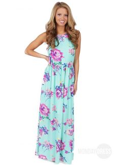 Blessings Maxi Dress in Sky Blue | Monday Dress Boutique