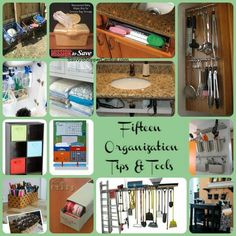 15 Organizational Tips & Tools Collage
