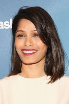 Freida Pinto Mid-Length Bob - Shoulder Length Hairstyles Lookbook - StyleBistro