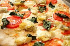 Margherita Pizza with Artichokes