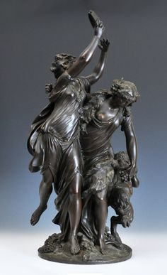 Lot # : 122 - Bronze Group of Bacchantes