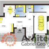 Casa cu etaj 61 | Proiecte de case personalizate | Arhitect Gabriel Georgescu & Echipa Floor Plans, Home, 2nd Floor, Houses, House, Ad Home, Homes, Haus, Floor Plan Drawing