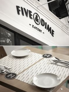 Five & Dime Eatery | Singapore #logo #branding #identity