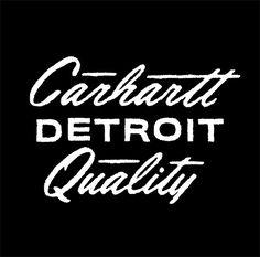 Carhartt Typography by Dan Cassaro