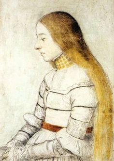 Portrait of Anna Meyer (c.1526) - Hans Holbein
