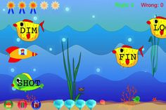 ABC Phonics Short Vowel Words ($2.99) PhonicsOne is a fun game for young children to learn and practice phonics by piloting a submarine and shooting torpedos to identify each word.  PhonicsOne is for children just beginning to read. The words all have short vowel sounds. More advanced children should try PhonicsTwo, or PhonicsThree, with long vowel sounds and double vowels.