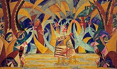Dekoracja do baletu Baśnie rosyjskie, M.Łarionow