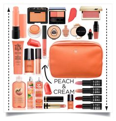 """""""Peach Makeup"""" by heythatsalya ❤ liked on Polyvore featuring beauty, MAC Cosmetics, NARS Cosmetics, rms beauty, Giorgio Armani, Bobbi Brown Cosmetics, Tom Ford, Laura Mercier, Clé de Peau Beauté and Clarins"""