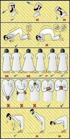 Right positions in salah/prayer