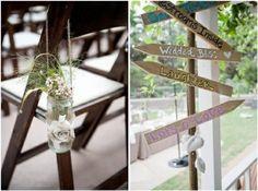 Cute aisle jars - love the burlap flower. by coleen