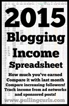 Get your 2015 blogging income books on the right track! This blogging income helps you track views, followers, income and expenses!