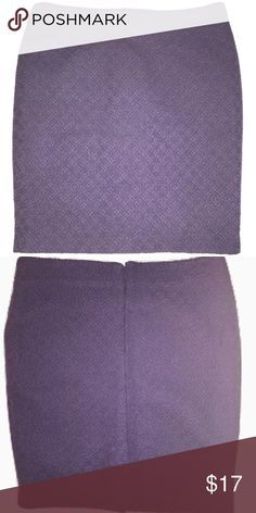 "NWOT Fall Winter Skirt NEW WITHOUT TAGS Catherine Catherine Malandrino Purple Fall Winter Skirt Size 14  I do try my best to capture the correct color/shade, though it may vary slightly in person.  Thank you!  A little bit heavier weight textured fabric, great for fall or winter Back zipper & eye hook closure 5"" back flap slit Fully lined Size: 14 Waist: 33 inches around Length: 20.5 inches 69% Rayon, 29% Nylon, 2% Spandex Thank you so much! Catherine Malandrino Skirts Pencil"