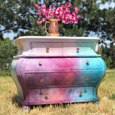 Creative Furniture Artistry, Original Artwork, Home Decor & more. Decorative one of a kind statement pieces to brighten your every day life. Funky Painted Furniture, Painted Chairs, Chalk Paint Furniture, Diy Furniture Projects, Refurbished Furniture, Upcycled Furniture, Cool Furniture, Furniture Refinishing, Wooden Furniture