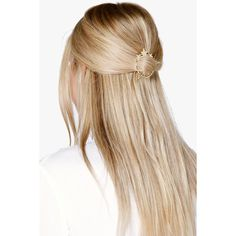 Boohoo Maya Star Detail Hair Pin ($5) ❤ liked on Polyvore featuring accessories, hair accessories, gold, bohemian hair accessories, floral crown, party crowns, hippie hair accessories and star hair accessories