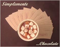 Chocolate Caliente con crema o marshmallows #chocolate #chocolatecaliente
