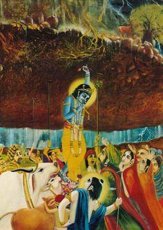 A.C. Bhaktivedanta Swami (Adaptación de Drutakarma das de la obra Srimad-Bhagavatam) Protegidos por el Señor Krishna, todos los habitantes de la aldea (hombres, mujeres, niños y animales) entraron…