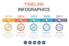 Timeline Infographics Template PSD, Vector EPS, AI Illustrator