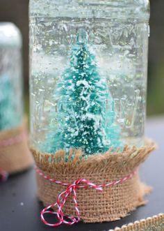 homemade snow globes easy to craft christmas decoration