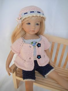 Handknitted Outfit for Little Darling Doll 13 inches Dianna Effner New | eBay. Ends 4/19/14.