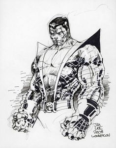 Colossus by Jim Lee, in Jeremy Mehring's X-Men - Sketches and Commissions Comic Art Gallery Room Comic Book Artists, Comic Book Characters, Comic Artist, Comic Books Art, Arte Dc Comics, Marvel Comics Art, Marvel Marvel, Captain Marvel, Punisher